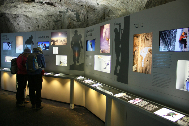 06. Amenajările interioare de pe Mont Blanc – spațiul expozițional dedicat alpinismului