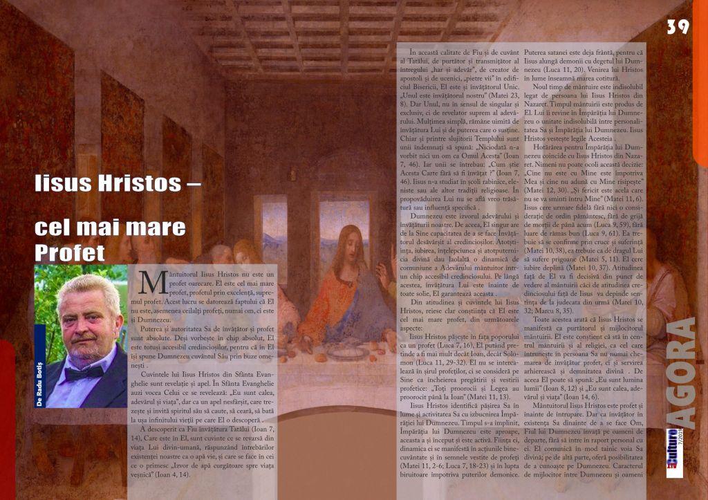 ALTculture 7/2019 - Iisus Hristos –  cel mai mare Profet