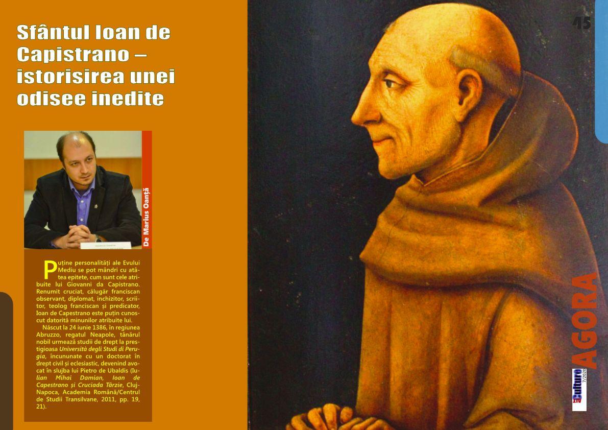 ALTculture 07/2020 – Sfântul Ioan de Capistrano – istorisirea unei odisee inedite
