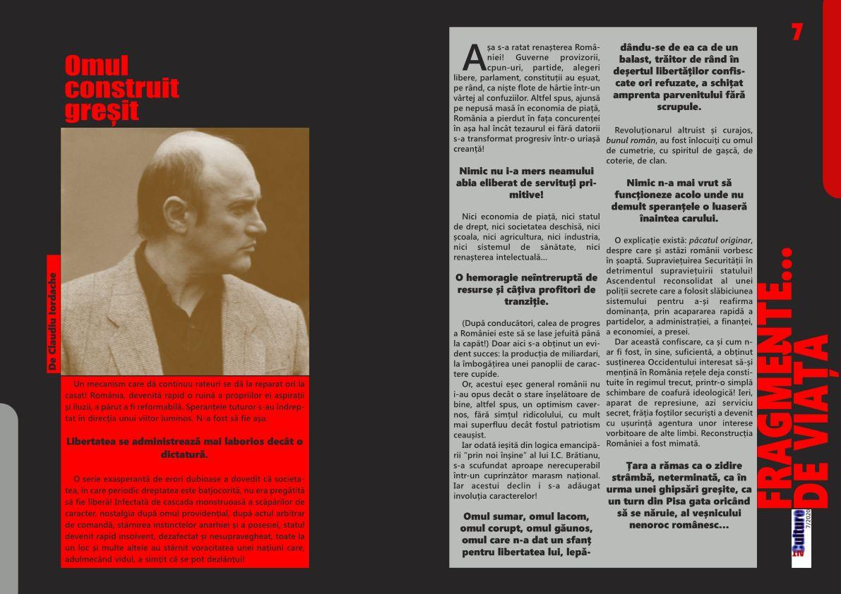 ALTculture 07/2020 – Omul construit greșit