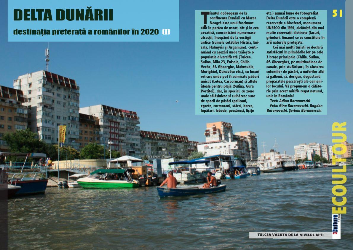 ALTculture 09/2020 – DELTA DUNĂRII – destinația preferată a românilor în 2020 (I)