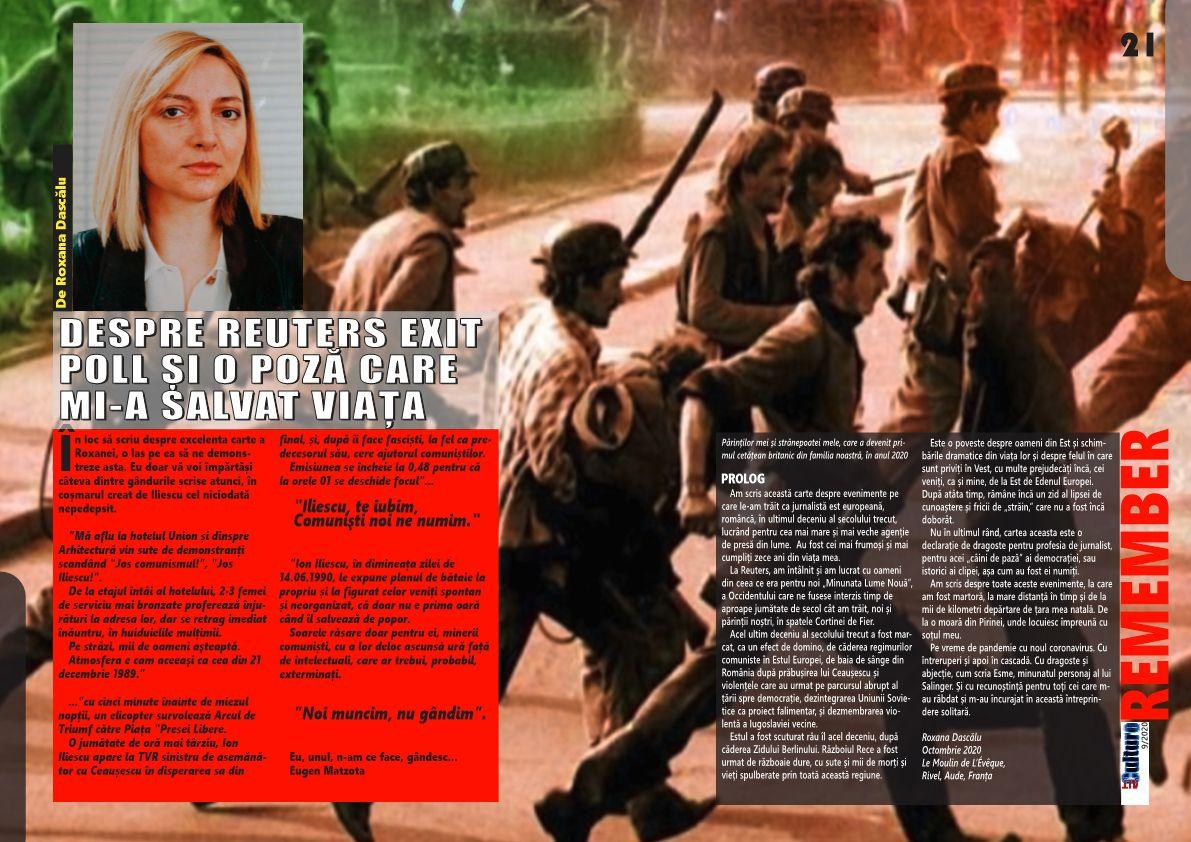 ALTculture 9/2020: DESPRE REUTERS EXIT POLL ȘI O POZĂ CARE MI-A SALVAT VIAȚA