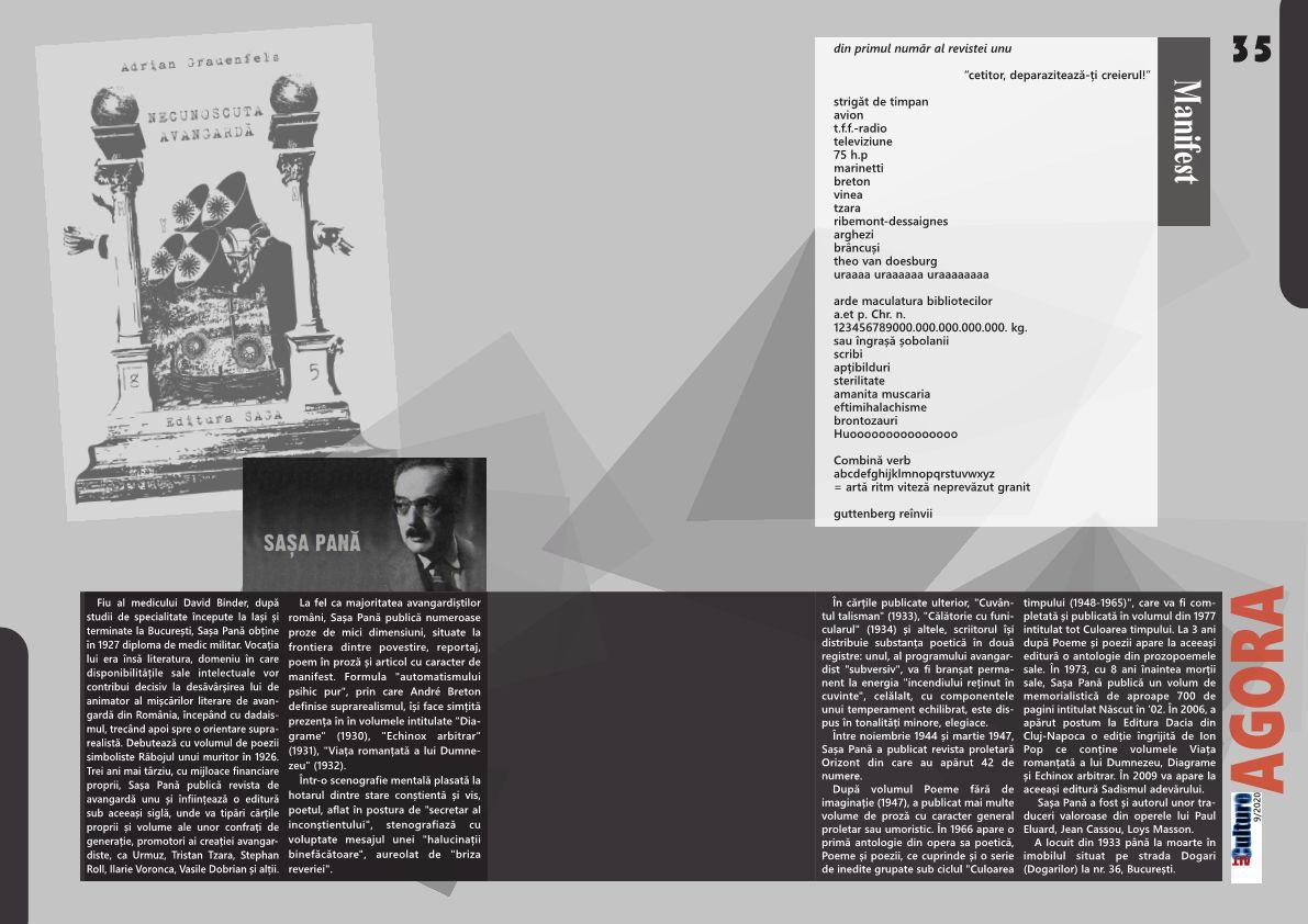 ALTculture 09/2020 – Necunoscuta Avangardă (III)