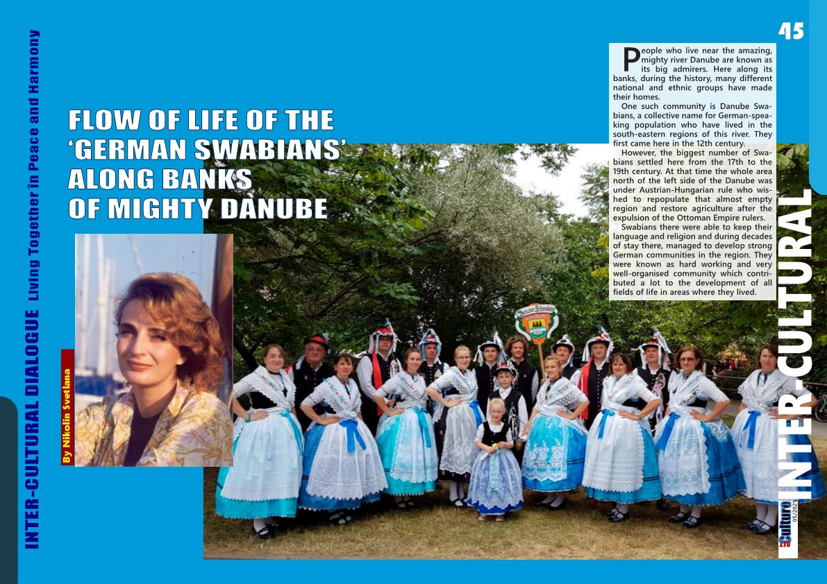 FLOW OF LIFE OF THE 'GERMAN SWABIANS' ALONG BANKS OF MIGHTY DANUBE