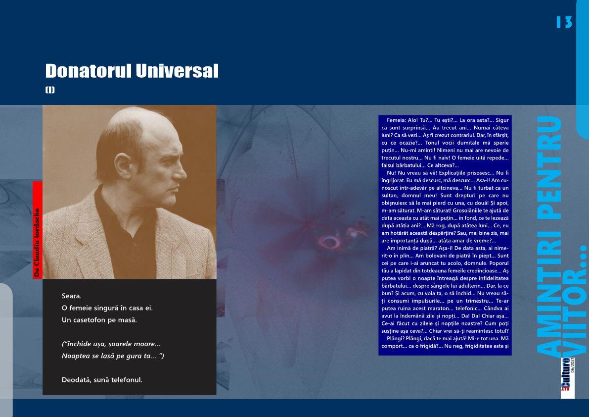 Donatorul Universal (I)