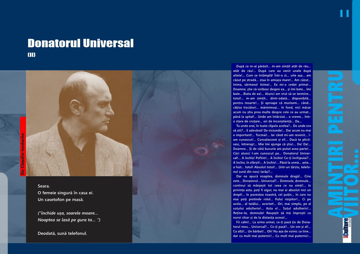 Donatorul Universal (II)